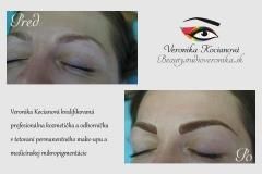 Čiarkované obočie microblading permanentný make up Veronika Kocianová Schweiz Zürich Bern
