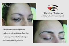 Čiarkované obočie microblading permanentný make up VERONIKA KOCIANOVÁ