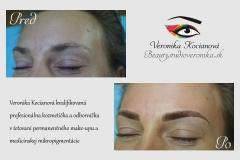Čiarkované obočie tetovanie microblading permanentný make up Veronika Kocianová Bratislava