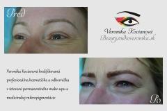 Krásne tetovanie obočia čiarkovanou metódou a očných liniek profesionálka Veronika Kocianová