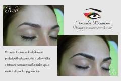 Najkrajší permanentný make-up obočie Veronika Kocianová