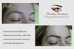 Najlepšie tetovanie permanentného makeupu obočia profesionálka Veronika Kocianová