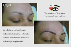 Obočie microblading permanentný make-up čiarkovanou metódou