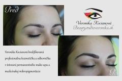 Obočie permanentný make up čiarkovanou metódou len za 130€
