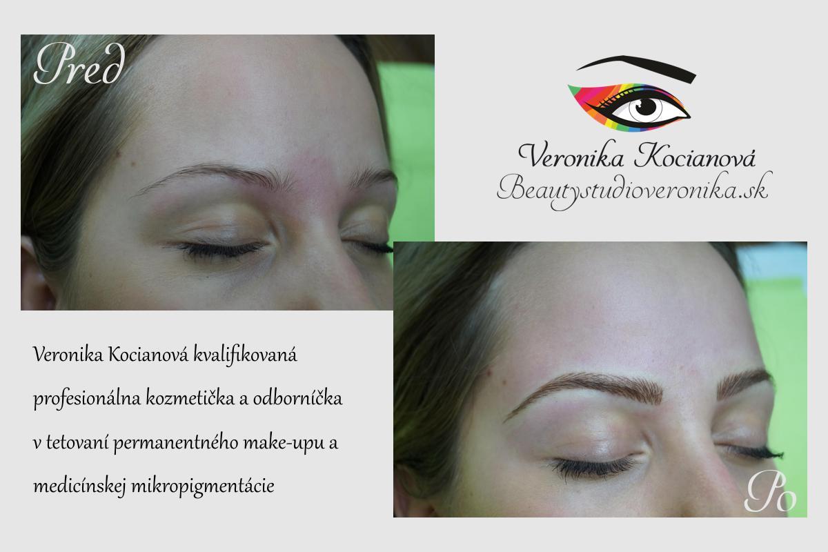 Obočie permanentný make up čiarkovanou metódou VERONIKA KOCIANOVÁ
