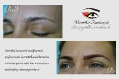 Odborne a profesionálne vytetovaný permanentný make-up obočia čiarkovanou metódou vždy pekne vybledne do prirodzenej podoby Veronika Kocianová