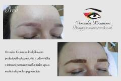 Oprava i nové tetovania permanentného make-upu Veronika Kocianová profesionálka