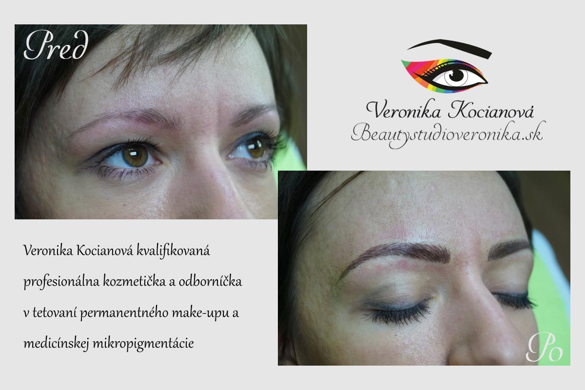 Opravy permanentného make-upu a nové tetovania obočia