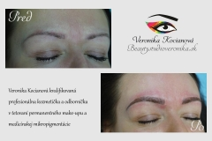 Permanentný make-up microblading tetovanie obočia čiarkovaná metóda Veronika Kocianová Schweiz Zürich Bern