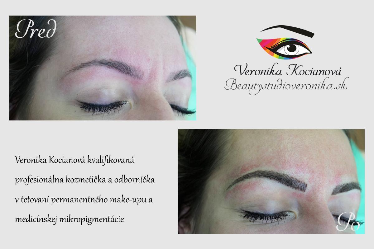Permanentný make-up obočia cena Bratislava Veronika Kocianová