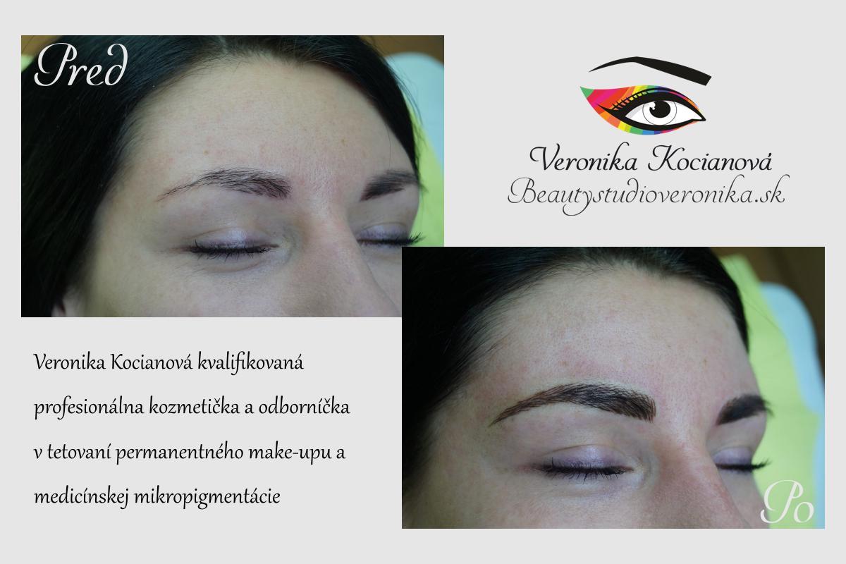 Permanentný make-up obočia cena Bratislava