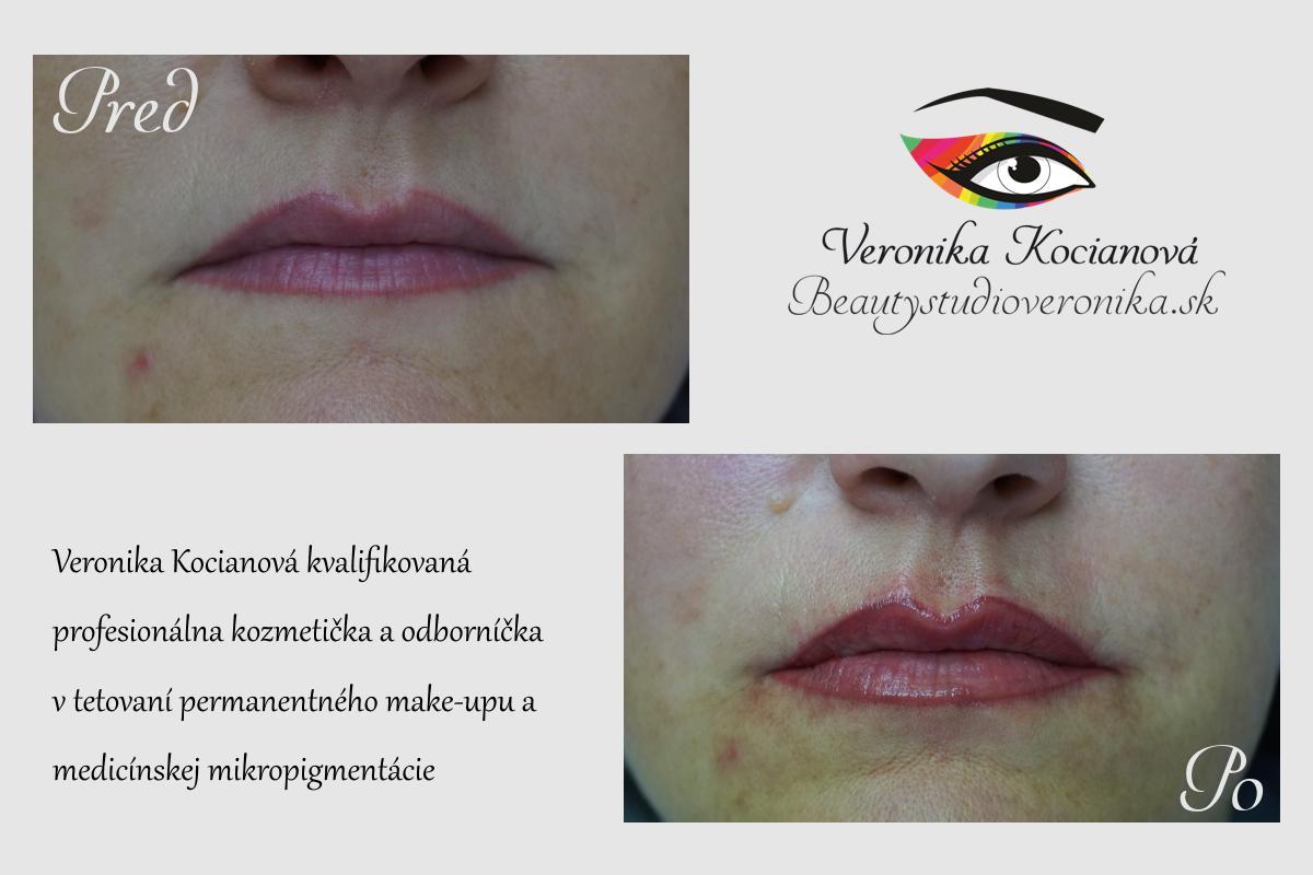 Permanentný make-up pier kontúra Veronika Kocianová