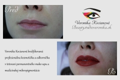 Permanentný make-up pier s plným vytieňovaním Veronika Kocianová