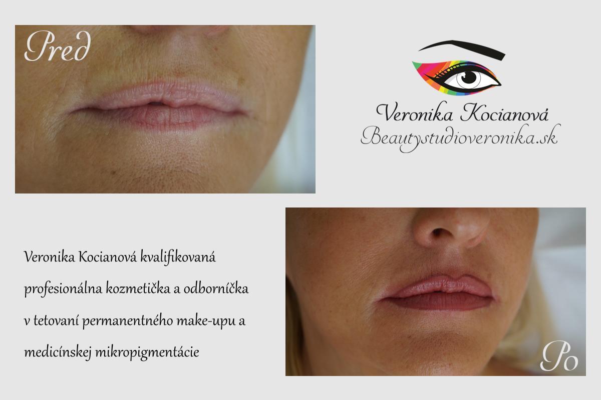 permanentný make-up tetovanie pier Veronika KoCIANOVá