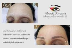 Permanentný make up vrchnej a spodnej očnej linky Veronika Kocianová