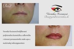 Profesionálne tetovanie permanentného make-upu pier Veronika Kocianová