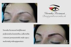 Profesionálny Permanentný make-up microblading čiarkované obočie Veronika Kocianová Bratislava