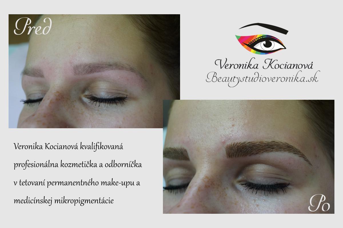 Tetovanie Microblading Permanentný makeup obočia