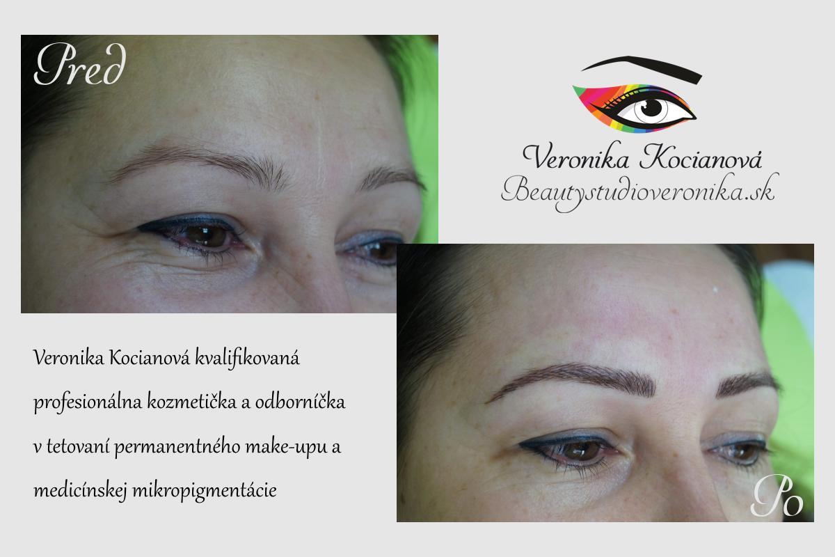 Tetovanie Microblading obočie Permanentný makeup
