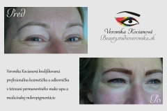Tetovanie obočia a očných liniek permanentný make-up profesionalita Veronika Kocianová