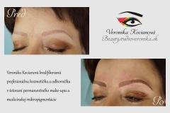 Tetovanie obočia Microblading Permanentný makeup Veronika Kocianová