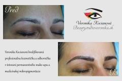 Tetovanie obočia permanentný make-up čiarkovaná metóda Veronika Kocianová