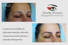 Tetovanie permanentného make-upu obočia čiarkovanou metódou Veronika Kocianová