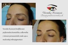 tetovanie permanentného make-upu obočia Veronika Kocianová
