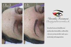 Vytetovaný permanentný make-up obočia čiarkovanou metódou musí vyzerať po zahojení úplne prirodzene Veronika Kocianová
