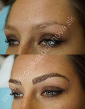 Permanentný make-up obočia a jeho správny tvar
